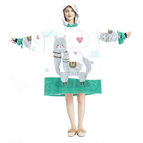 Sudadera con capucha para mujer, cómoda para mujer, chándal relajado, cálido, alpaca, animal Just Be Cool