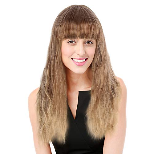 comprar pelucas mujer pelo natural largo moreno
