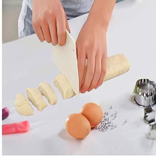 TOSSPER Hoja de Masa de hojaldre raspador de Cuchilla de Corte Herramienta Robot de Cocina Cortar la Torta de Pan