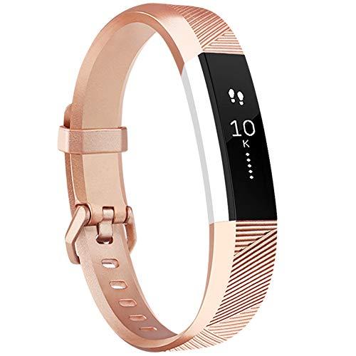 Tobfit Armband für Fitbit Alta HR Armband, Alta Armband Verstellbar Weich Ersatz Armbänder für Fitbit Alta HR und Fitbit Alta (Keine Uhr) (Rose Gold, Kleine)