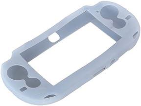 OSTENT Capa protetora macia de silicone compatível com Sony PS Vita, PSV, cor branca