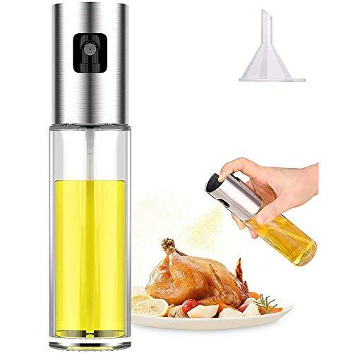 Oil Sprayer Dispenser,Olive Oil Sprayer, Spray Bottle for Oil Versatile Glass Spray Olive Oil Bottle for Cooking,Vinegar Bottle Glass,for Cooking,Baking,Roasting,Grilling