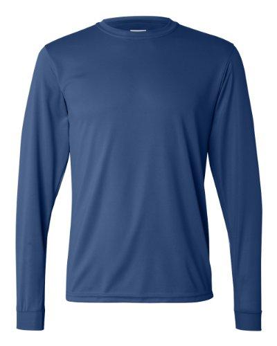 Augusta Performance T-Shirt de sport à manches longues pour homme - Bleu - XXX-Large