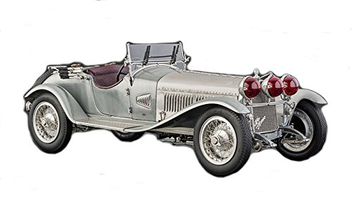 CMC-Classic Model Cars Alfa Romeo 6C 1750 Gran Sport, Clear-Finish 1:18 Scale Detailed Assembled Collectible Historic Antique Vehicle Replica