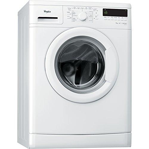 Whirlpool DLC7012 Libera installazione Caricamento frontale 7 kg 1200 RPM A+++ Bianco - Lavatrice (Indipendente, Caricamento frontale, Bianco, Pulsanti, Manopola, Sinistra, LCD)