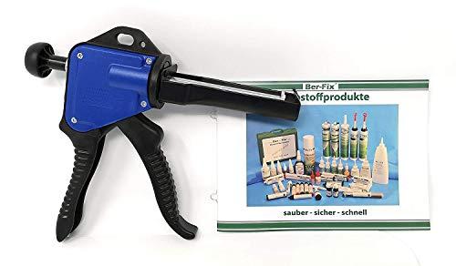 Ber-Fix® Original Dosierpistole für 50ml Kartuschen Kartuschenpistole Kunststoffkleber 2K Metallkleber mit Ber-Fix® Flyer