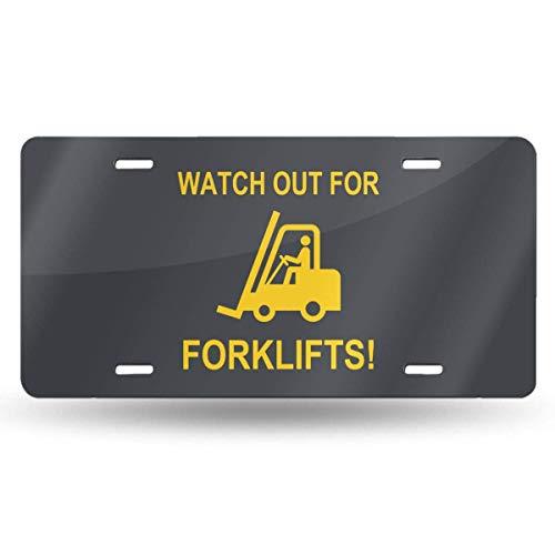 jiumin Tenga Cuidado con Las carretillas Elevadoras Placa de matrícula Personalizada de 6 x 12 Etiqueta de Aluminio para automóvil
