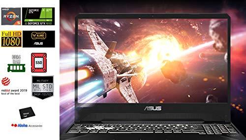 Asus TUF FX505DT 15.6 FHD Gaming Laptop AMD Ryzen 5 3550H Quad Core up to 3.7GHz 16GB DDR4 RAM 256GB M.2 PCIe SSD NVIDIA GeForce GTX 1650 RGB Backlit Keyboard Webcam HDMI Windows 10 Aloh Bundle