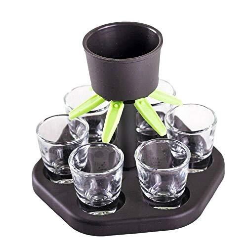 wdd 6 Shot Glass Dispenser and Holder -Dispenser For Filling Liquids, Shots Dispenser