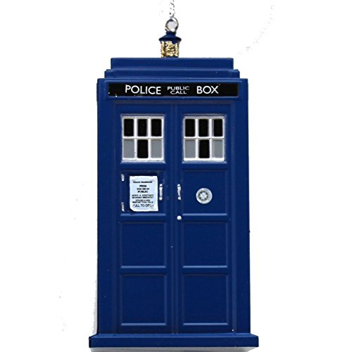 MyPartyShirt TARDIS Police Box Doctor Who PLASTIC Ornament