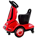 Moto Elétrico para Crianças, Carro Triciclo Criança Com Luzes E Música Rotação De 360 ° Recarregável 2 Anos Brinquedos Infantis Infantil Carros De Bateria,Rojo