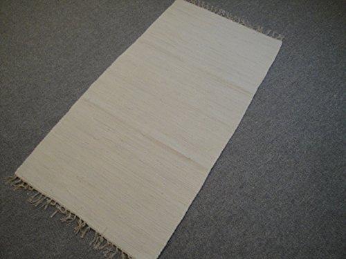 Garmisch Kelim - Maglia a mano in India, 170 x 120 cm, tinta unita, 100% cotone, tessuto a mano