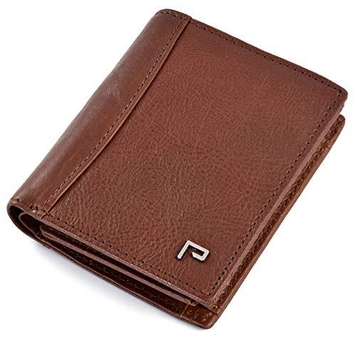 Cartera de Piel para Hombre | Tarjetero y Billetero | RFID Bloqueo | con Bolsillo para Monedas [marrón]