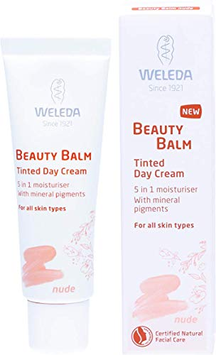 WELEDA Beauty Balm 5in1 Getönte Tagespflege Nude, Naturkosmetik Tagescreme und Gesichtspflegecreme, 30 ml