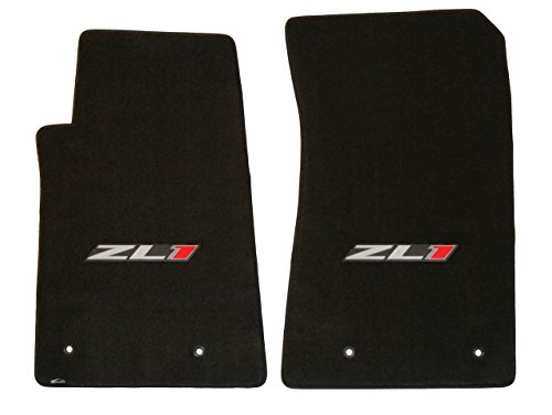 Lloyd Mats - Classic Loop Ebony Front Floor Mats For Camaro ZL1 with ZL1 Silver and Red Applique