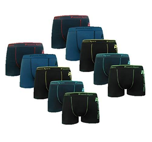 10er Pack Boxershorts Jungen | Boxer Pants Kinder 172-178 / Mehrfarbig 4