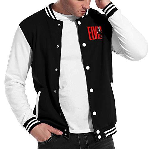 RomaniaGH Unisex Baseball Uniform Elvis Aaron Presley Casual Stand Collar Sweater Jacke für Mann Frauen Streetwear Mantel