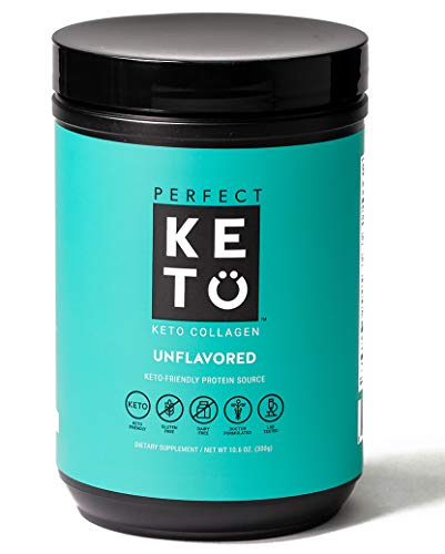 Perfect Keto Collagen Peptides Protein Powder with MCT Oil - Grassfed, GF, Multi Supplement, Best for Ketogenic Diets, Use in Coffee, Shakes for Women & Men – Unflavored