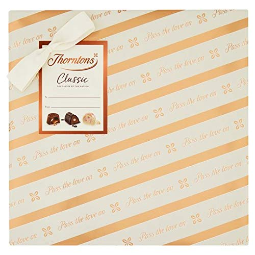 Thorntons Milk, Dark, White Classic Collection Gift Wrapped Chocolate Box 262G