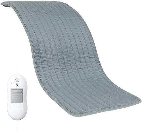 Almohadilla Eléctrica Térmica 30 x 60cm de 100W con Función de Apagado Automático, Manta Electrica con Tecnología, 3 Ajustes de Temperatura, Lavable, Protección contra Sobrecalentamiento,