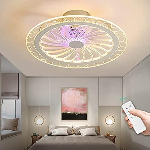 Ventilador De Techo Con Luz Moderno Lámpara De Techo Regulable Con Control Remoto Ventilador De Techo Con Iluminación Ventilador De 3 Velocidades Luz De Techo Para Sala De Estar Dormitorio (B)