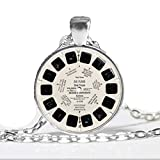2016 Glass Dome Necklace View Master Necklace Vintage Viewmaster Reel Viewfinder Eighties Fads Techie Art Pendant Necklace
