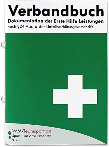 Verbandbuch Erste Hilfe - mit Ringösen - Heraustrennbare Seiten nach DSGVO/DGUV 204-021 / § 24 Abs. 6 der Unfallverhütungsvorschrift Verbandsbuch/Meldeblock