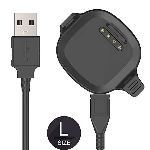 [Large Size 2.5CM Screen] TUSITA Charger Compatible with Garmin Forerunner 10 15 - USB Charging Cable 100cm - Smartwatch Accessories