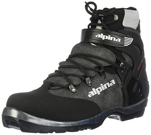 Alpina BC-1550 Back-Country Nordic Cross-Country Ski Boots, for use with NNN-BC Bindings, Black/Silver, 48