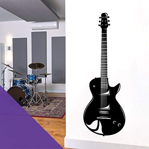 Adhesivo decorativo para pared, diseño de guitarra eléctrica, color morado