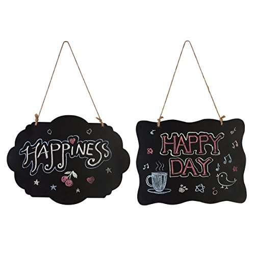 HOMEMAXS Chalkboard Sign Double-Sided First Day of School Board with Hanging String - 2 Pack
