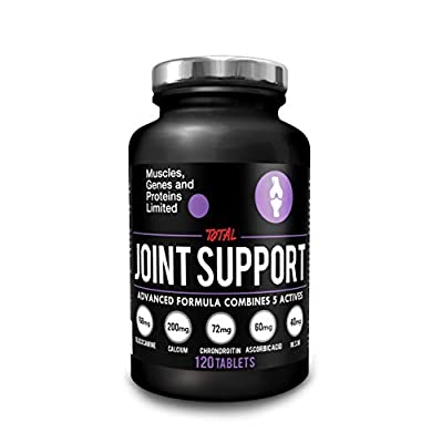 Total Joint Support - 120 Tablets |Glucosamine |Calcium |Chondroitin |Ascorbic Acid |MSM |Manufactured in The UK |Purity Tested
