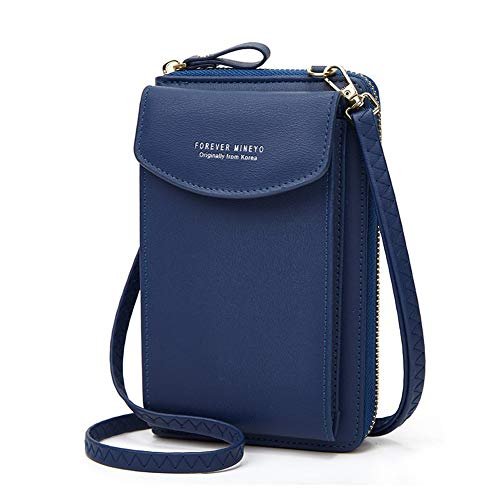 Handytasche zum Umhängen,Aeeque Damen Handy Umhängetasche Brieftasche PU Leder,Crossbody Handy Tasche Geldbeutel kompatibel mit Huawei P30 Lite Y6 2019 P40 Lite Y7 Y5 2019 P20 Pro P10 Lite - Blau