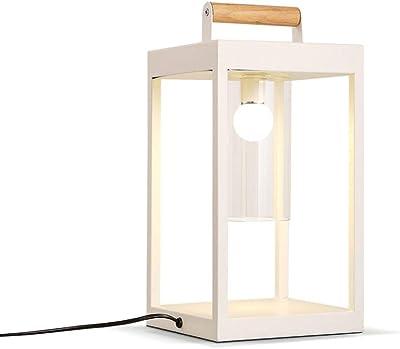 Lcxligang 現代の読書照明北欧モダン・ミニマル・スクエアテーブルランプリビングルームをペイント
