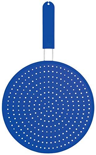 Colourworks CWSPLATTERBLU - Tapa antisalpicaduras de Silicona, 28 cm, Color Azul