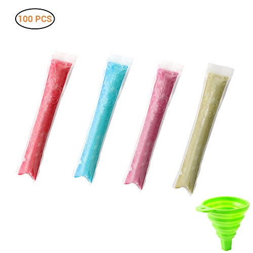 Ice Popsicle Molds Tassen, 100st Wegwerp Zip Lock Ice Pop Candy Pouches Seal Vriezer Tassen DIY Ijslollyzakken, Plastic Ijslolly Mallen Vriezertassen DIY Ice Cream Mold Tassen, Diepvriesbuis Ice Pop