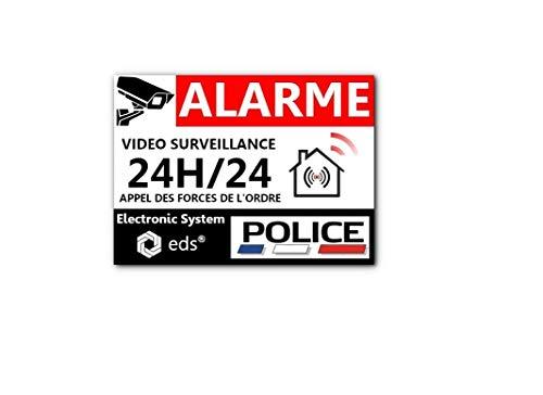 Lot de 8 Autocollants Dissuasifs « Alarme Vidéo...