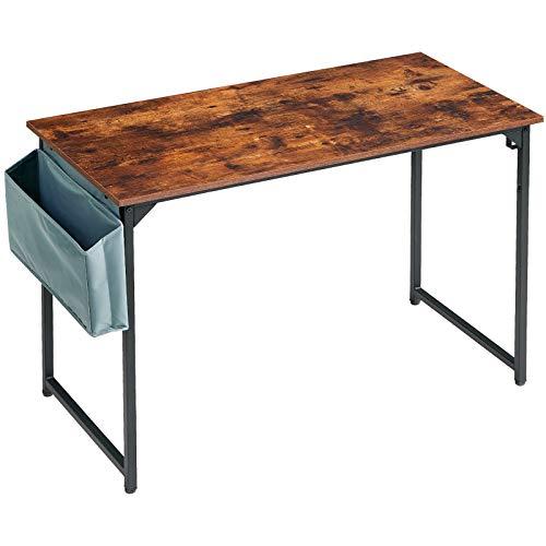 IBUYKE Escritorio para ordenador, 120 x 60 x 75 cm, escritorio de estudio para oficina en casa, mesa de trabajo con bolsa de almacenamiento TMJ31MH