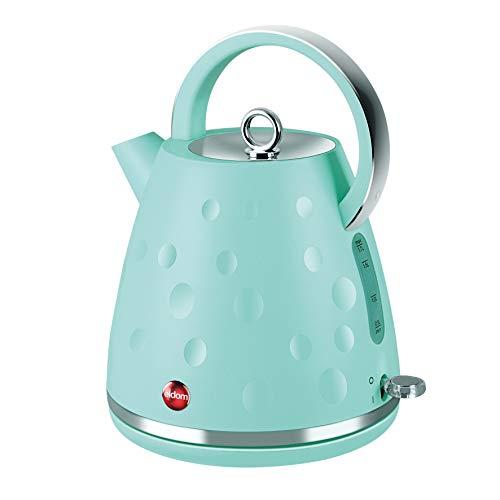 Elektrische Wasserkocher mit Drehsockel ELDOM C245, Türkis, 2000W, 1,7 l (Hochwertige Komponenten STRIX)
