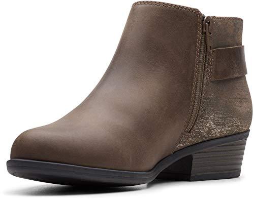 Clarks Women s  Addiy Kara Ankle Boot Olive 9.5 M