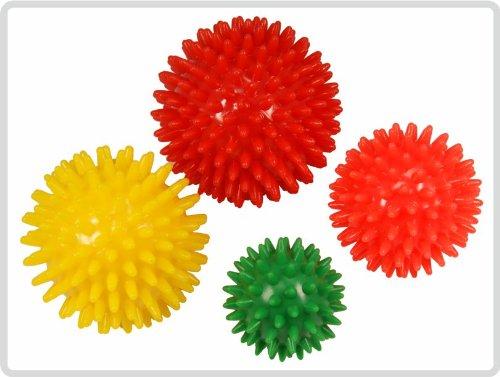 Igelball Igel-Ball Noppenball Massageball 4er-Set (rot, gelb,orange, grün) *Top-Qualität zum Top-Preis*