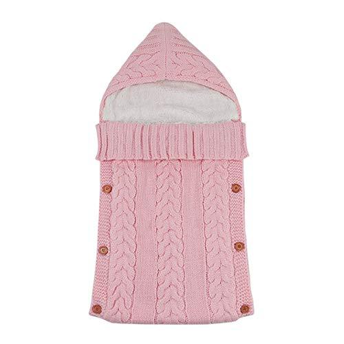 GYNFJK Kinderen plus fluwelen gewatteerde slaapzak gebreid om warm Ademend indoor Wrap Deken Comfortabele Slaapzak te houden