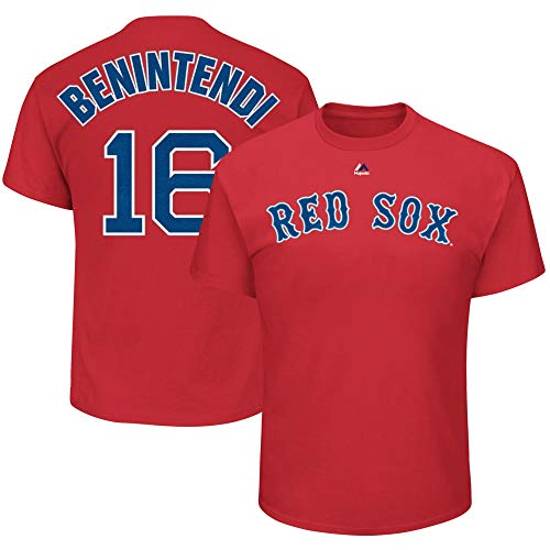 Andrew Benintendi Boston Red Sox MLB Team Apparel Boys Youth 8-20 Red Alternate Official T-Shirt (Youth X-Large 18-20)