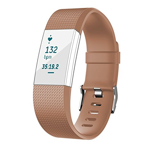 - Fitbit Charge 2 armband, van thermoplastisch polyurethaan, reserveband voor Fitbit Charge 2 smartwatch, hartslag, fitnessband.