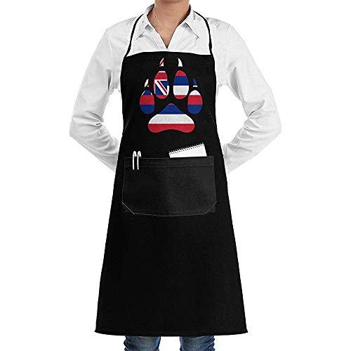 alice-shop Grembiuli Unisex con Bandiera delle Hawaii State Women per Grembiule da Cucina per Uomo