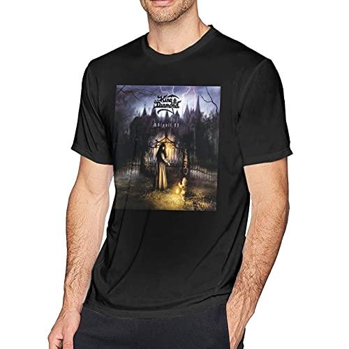 Frieed Ki-Ng Di-Amond Abigail Ii: The Revenge Men Classic Breathable Crew T Shirt Hip Hop Short Sleeve Tee Mens Tops Black