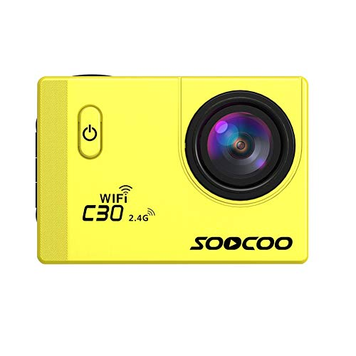 SSSabsir SOOCOO C30R Sports Action Camera Wifi 4K Gyro 2.0 inch LCD Screen 30M Waterproof Adjustable Angle Camera yellow