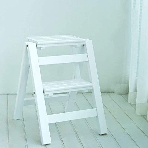 Suge Holzleiter Hocker Trittschemel Trittschemel Massivholz Falten Stair Chair Haushalt Innen Ascend Der kleine Leiter mehrfach Holz Leiter Leiter Zwei Schritte Multifunktions Ladder (Color : #2)