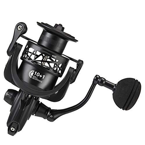 Bait reel Spinning Reel 5.2:1 6.2:1 Relación de engranajes Light to 162g Carbon Frame Rotor 11 BB blindado Carrete de pesca de agua salada reel (Bearing Quantity : 11, Spool Capacity : 4000 Series)