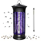 HUNTINGOOD Bug Zapper,Powerful Insect Killer ,Mosquito Zapper,Portable Standing or Hanging for Indoor,365NM UV Lamp,Chemical Free,Child Safe-Replacement Bulb Included